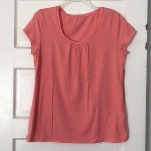 Merona pink scoop neck shirt sz xl
